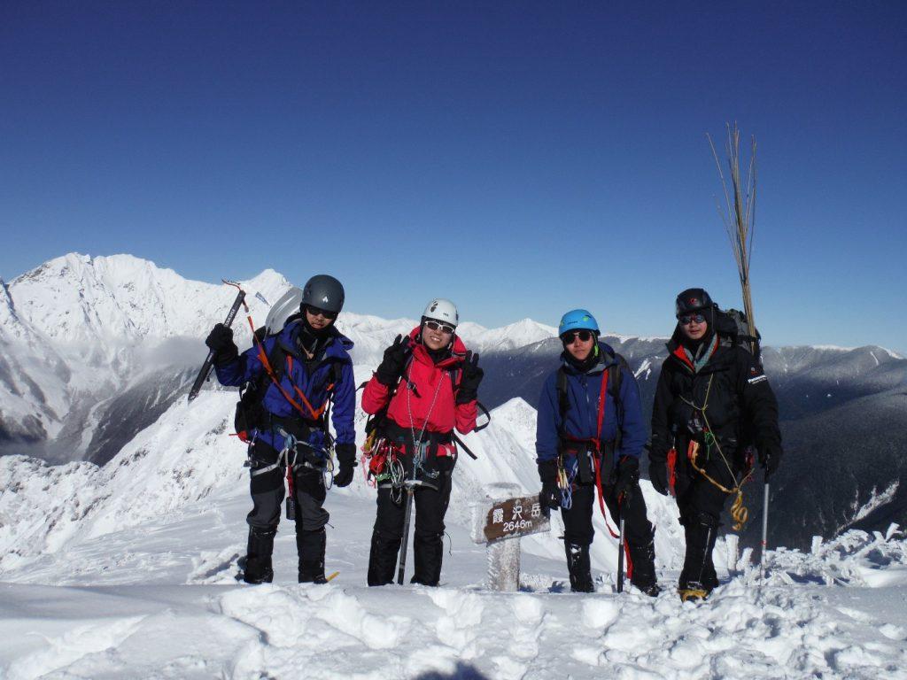 霞沢岳登頂