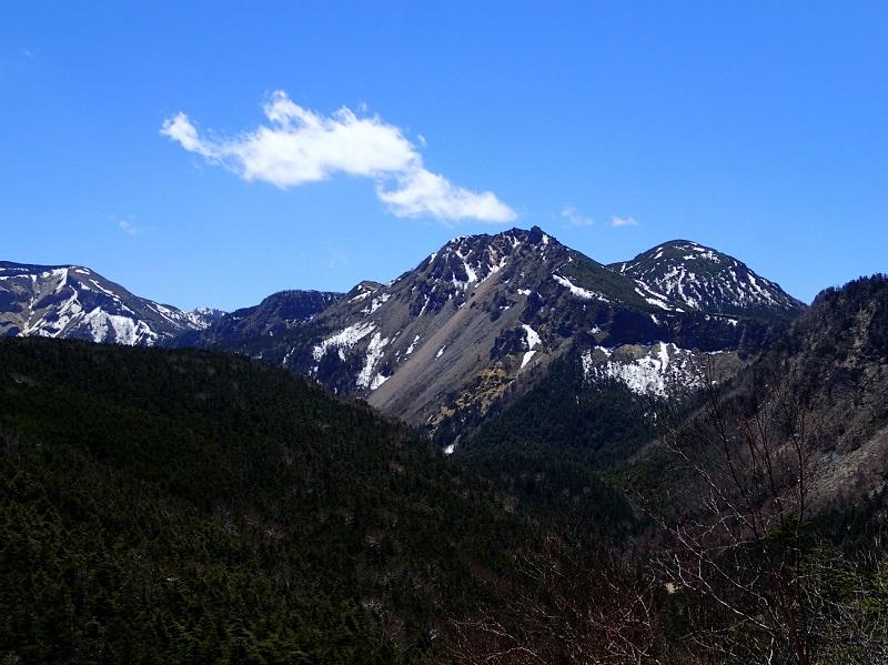 ニュウの頂上からのぞむ天狗岳