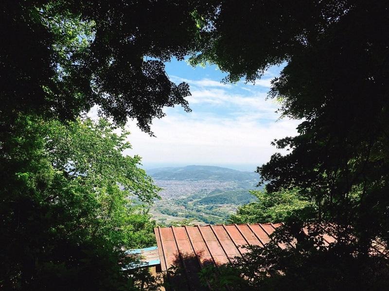 大観峰より。この景色を眺めながら夕食にキーマカレーを作った。