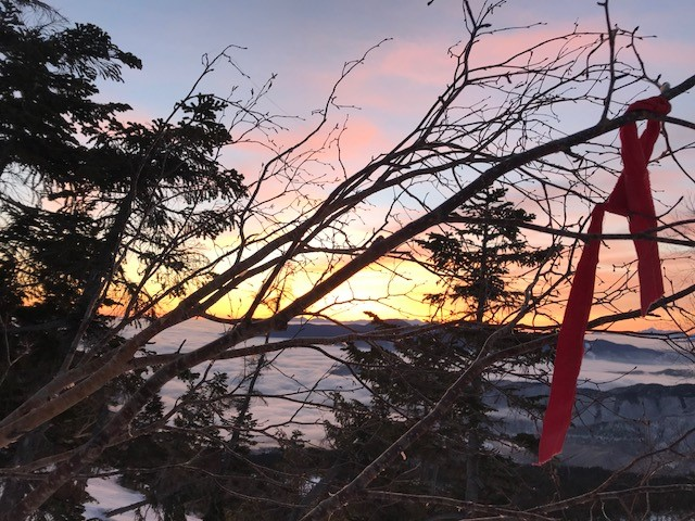 とてもきれいな夕日が見えた