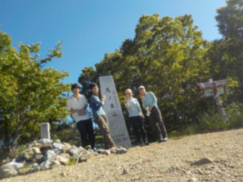 鷹ノ巣山にてカメラのタイマーで撮影